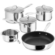 5 Piece Saucepan Draining Set Glass Lids (15430)