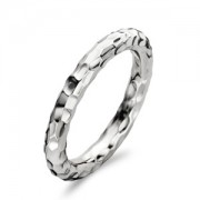 Sterling Silver Hammered Thin Band Ring (16882)