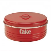 Red Enamel Cake Tin (17894)