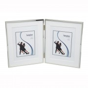 Hampton 4 x 6 Double Hinged Silver Plated Photoframe (18238)