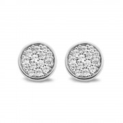 Zirconia Round Earrings (20079)