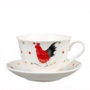 Alex Clark Rooster Teacup and Saucer (20266)