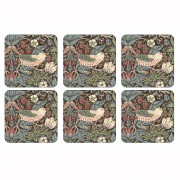 Strawberry Thief Brown Coasters Set of 6 (21283)