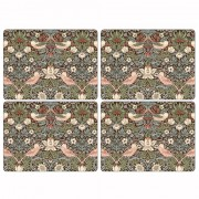 Strawberry Thief Brown Tablemats - Set of 4 (21295)