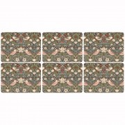 Strawberry Thief Brown Placemats - Set of 6 (21307)