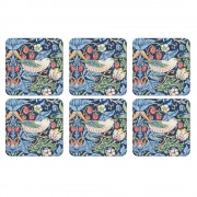 Strawberry Thief Blue Coasters Set of 6 (21755)