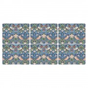 Strawberry Thief Blue Placemats - Set of 6 (21758)