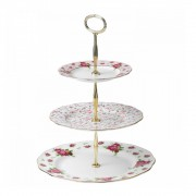 White Vintage 3 Tier Cake Stand (22183)