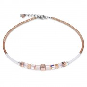 Rose Gold White Necklace (23897)