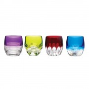 Large Old Fashioned Tumblers Colours - Set of 4 (24168)