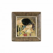 8cm Square Plate - Klimt The Kiss (24493)