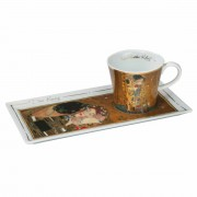 Tea/Coffee Cup and Platter - Klimt The Kiss (24494)