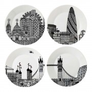 London Calling 22cm Plates - Set of 4 (25704)