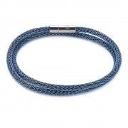 Blue Coated Mesh & Enamel Bracelet (27310)