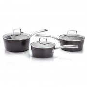 3 Piece Saucepan Set Glass Lids (28630)