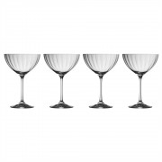 Box of 4 Saucer Champagne Glasses (29242)