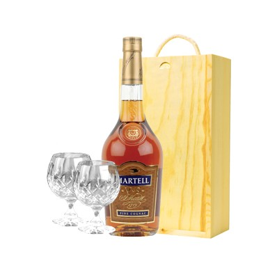 Martell Brandy and Glasses Gift Set (11228)