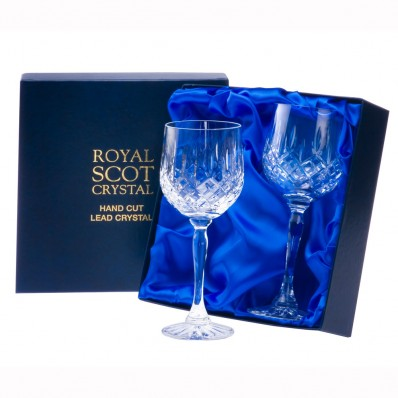 Royal Scot London Box of 2 Large Wine Glasses Old Shape (11789)