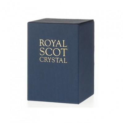 Havens Royal Scot Crystal Cut Glass London 25cm Flared Flower Vase