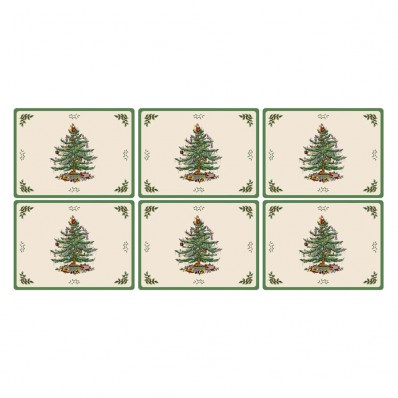 6 Placemats (14434) - Spode Christmas Tree Set Of 6 Placemats-Havens