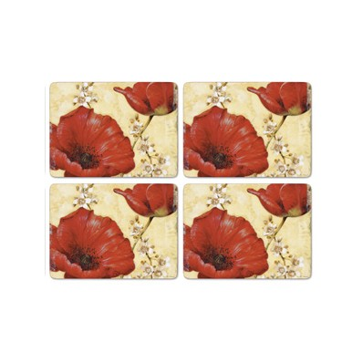 Havens - Pimpernel Tablemats and Coasters - Set of 4 Poppy de ...