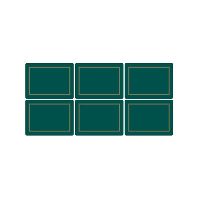 6 Classic Emerald Green Medium Placemats (15367)
