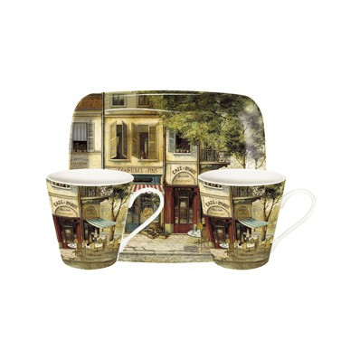 Havens - Pimpernel Tablemats and Coasters - Parisian Scenes 2 Mugs ...