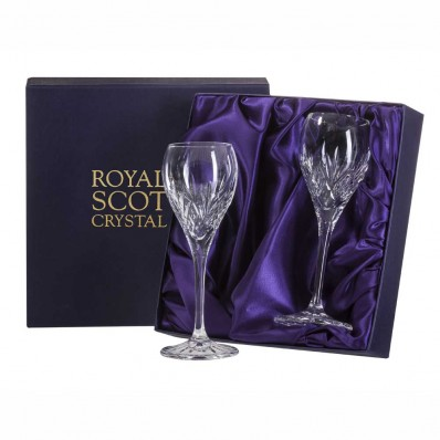 Royal Scot Highland Box of 2 Port or Sherry Glasses (15629)