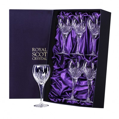 Royal Scot Highland Box of 6 Large Wine Glasses (15637)