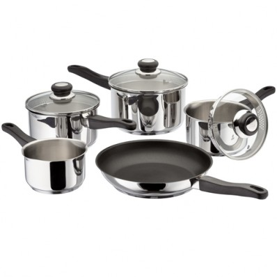 5 piece Stainless Steel Saucepan Set (16406)