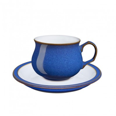 fffc609d9327 Havens - Denby China Imperial Blue Teacup and Saucer