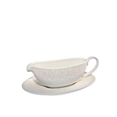 Denby Monsoon Lucille Gold Sauce Jug and Stand - Havens