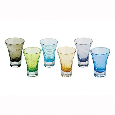Drh collection set of 6 twister shot glasses havens Unusual drinking glasses uk