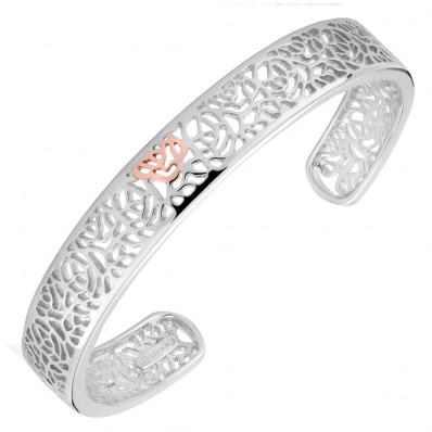 39ea8cd9b6099 Clogau Gold Silver and 9ct Rose Gold Bangle - Havens