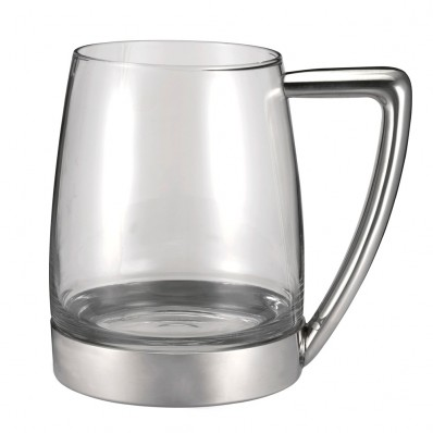 Pweter and Glass Tankard (20672)