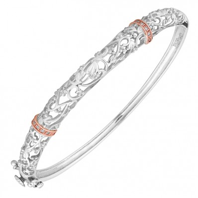 9d30653f47993 Clogau Gold Am Byth Silver and Rose Gold Bangle - Havens
