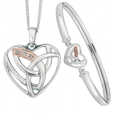 7d517ea38832f Clogau Gold Silver and 9ct Rose Gold Eternal Love Necklace and ...