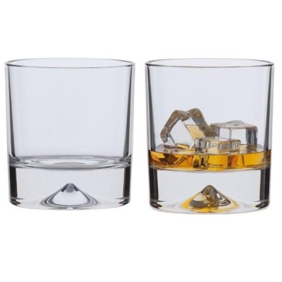 Large Double Old Fashioned Glasses - Set of 2 (2145)