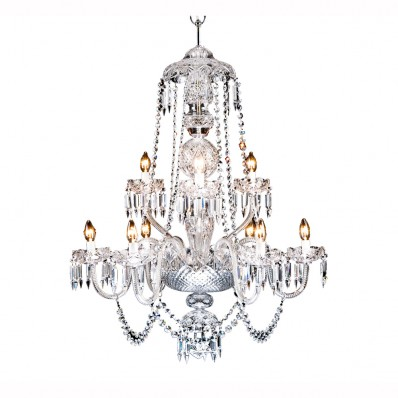 Heritage Irish Crystal Lighting Beaufort Chandelier - 9 Arm