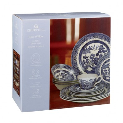 Churchill Amp Queens China Blue Willow 20 Piece Set Havens