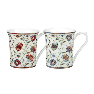 Churchill Amp Queens China Hidden World Indian Silk Mugs