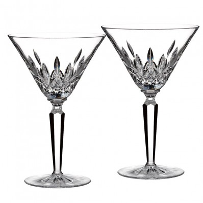 waterford lismore classic cocktail martini glass set of 2 havens. Black Bedroom Furniture Sets. Home Design Ideas