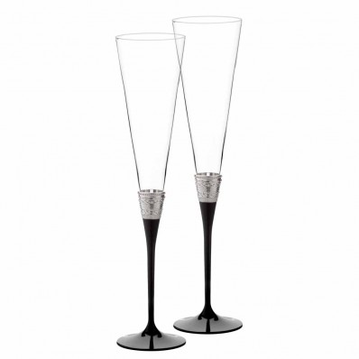 Noir Toasting Flutes - Set of 2 (25089)
