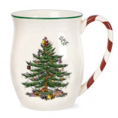 Mugs with Peppermint Handles - Set of 4 (25398)