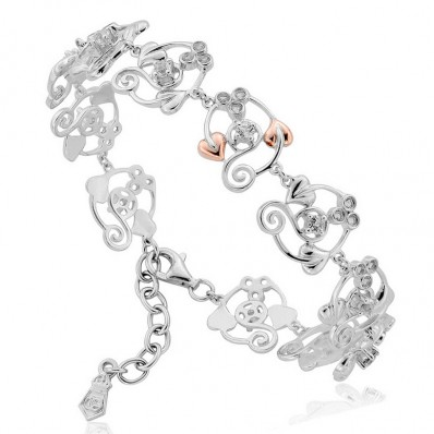 c8f8a8f0d86e7 Silver and 9ct Rose Gold Bracelet with White Topaz - Havens