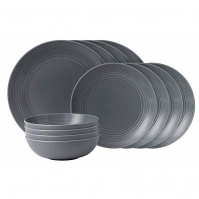 Dark Grey Dinner Set - 12 Piece (25664)  sc 1 th 224 & Gordon Ramsay Maze Dark Grey Dinner Set - 12 Piece - Havens