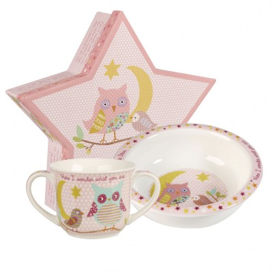 churchill amp queens china twinkle twinkle pink porringer