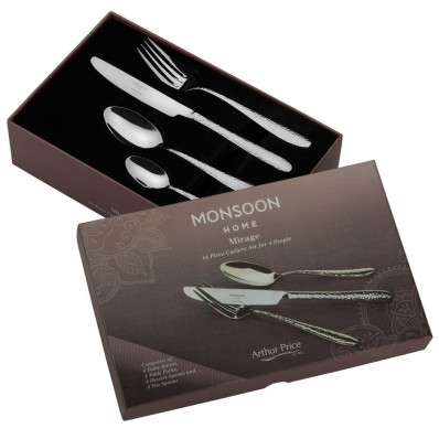Arthur Price Monsoon Mirage 16 Piece Cutlery Set