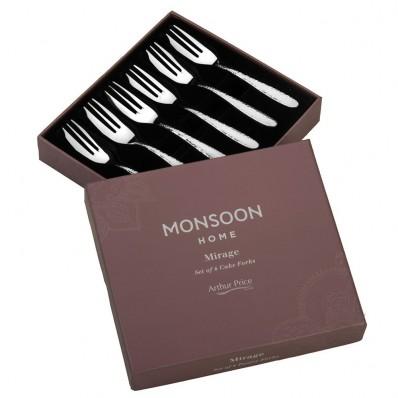 Arthur Price Monsoon Mirage Cake Forks - set of 6
