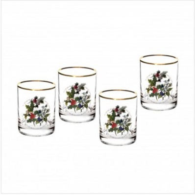 Set of 4 Double Old Fashioned Tumbler Glasses (26724)